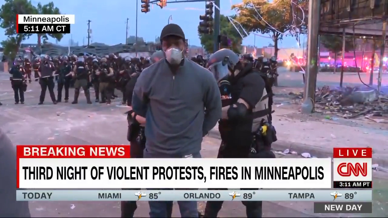 CNN reporter arrested live on air in Minneapolis