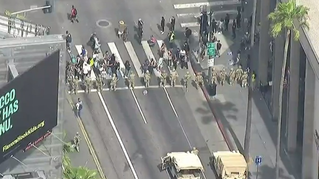 US Protests: Los Angeles calms after eight days
