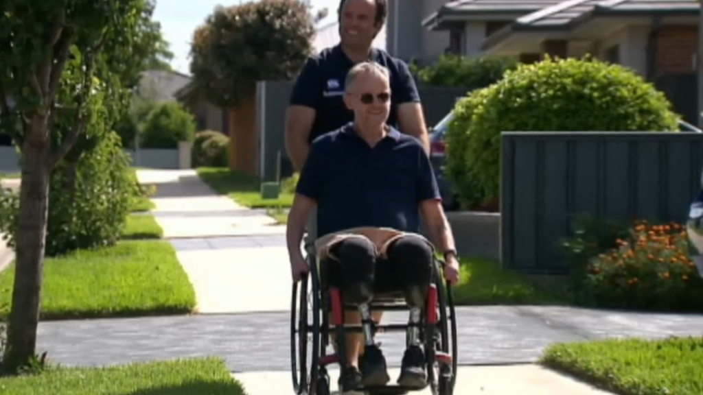 Sydney man who lost limbs reveals 'demoralising' battle with NDIS