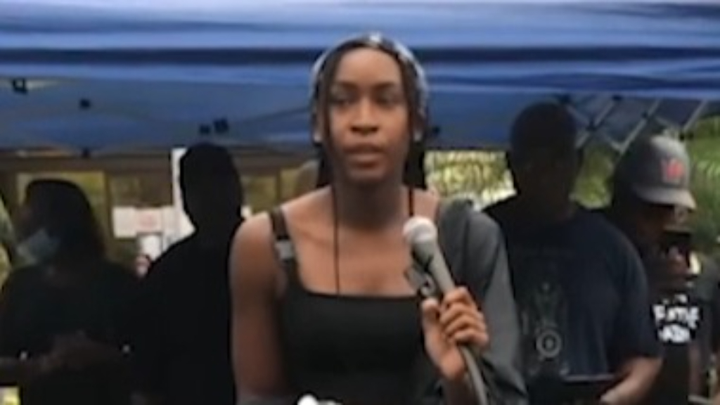 Gauff speaks at Black Lives Matter protest