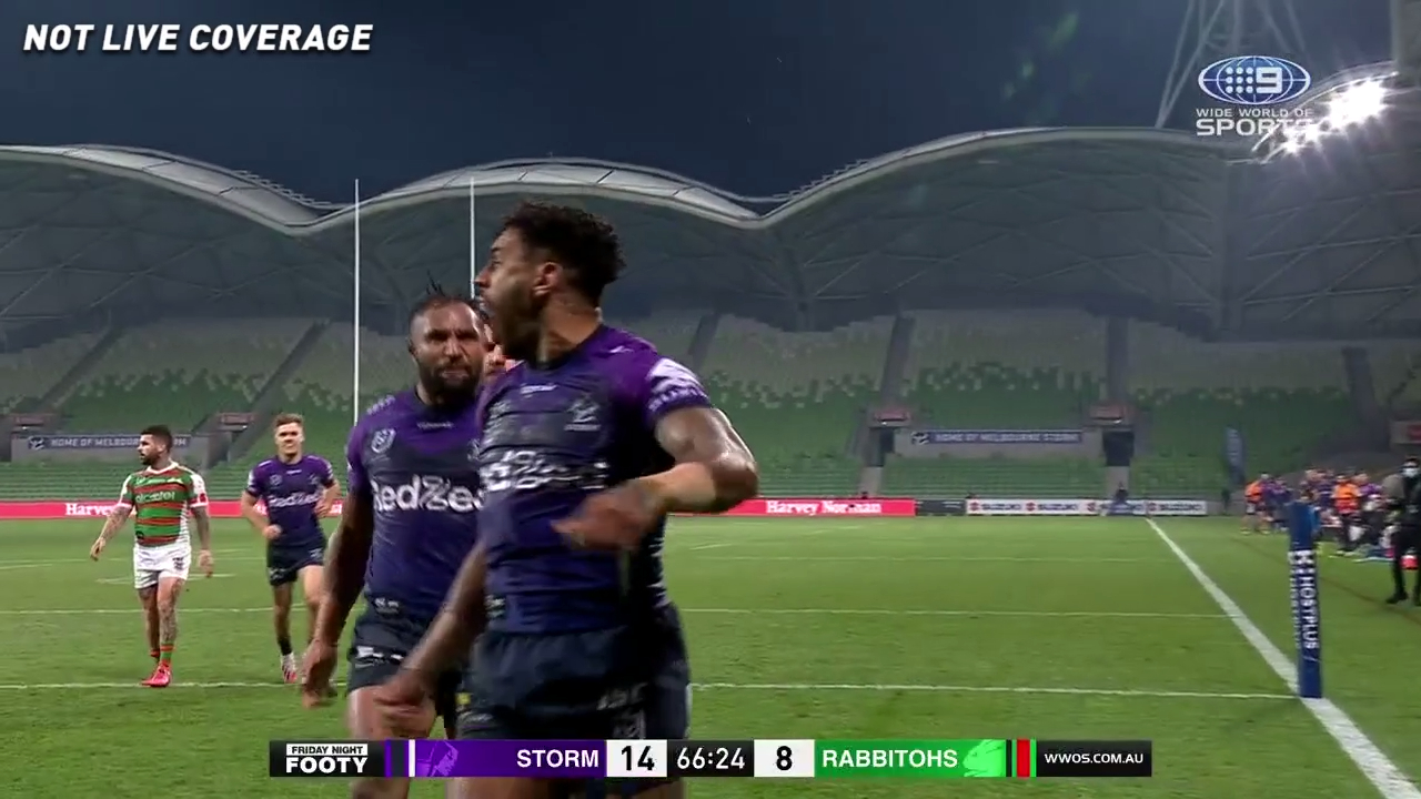 Nrl Melbourne Storm Defeat South Sydney Rabbitohs In Round 4