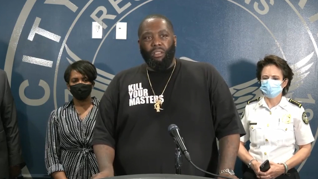 Killer Mike gives emotional speech about George Floyd's death in Atlanta, Georgia