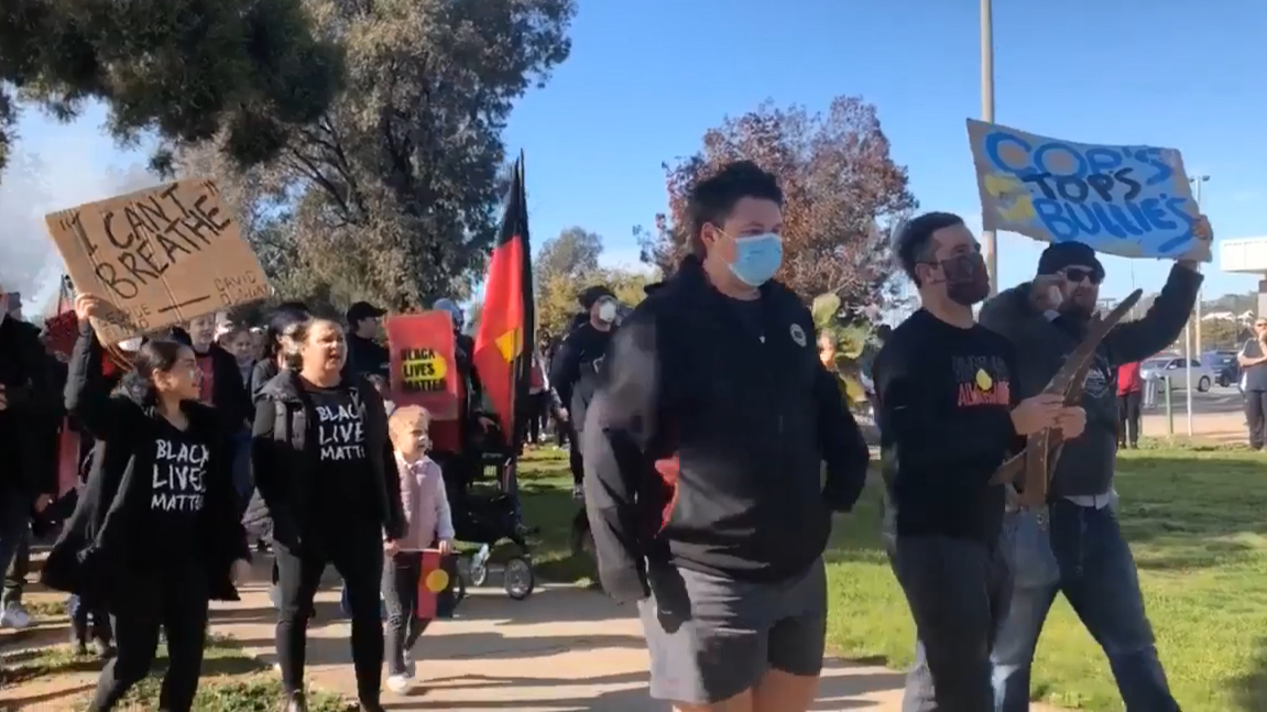 Black Lives Matter protests have begun in Wagga Wagga NSW