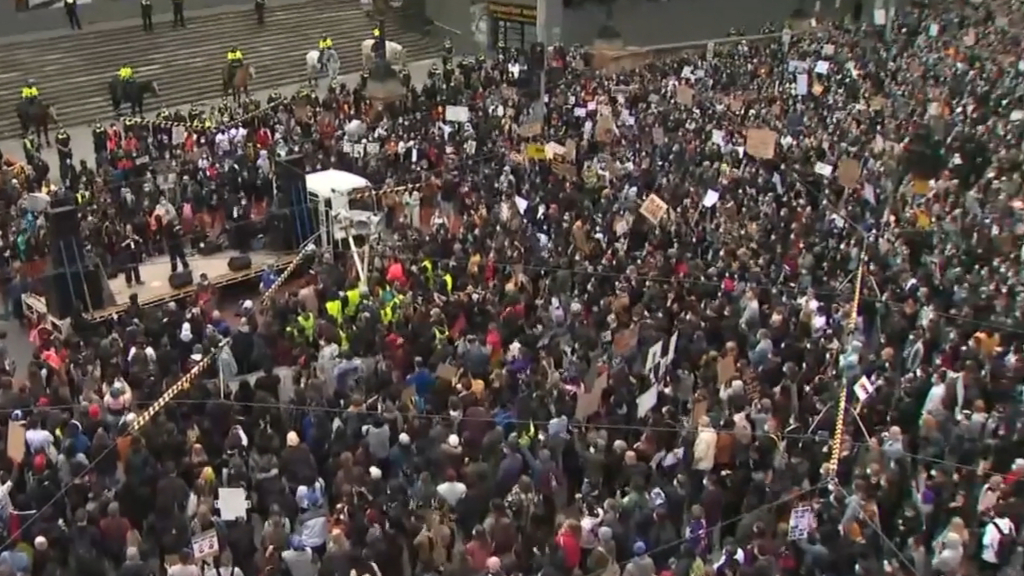 Thousands rally in Melbourne's CBD for the Black Lives Matter protest