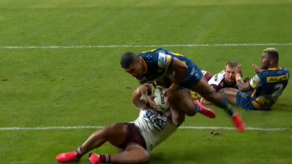 Michael Jennings scores for the Eels