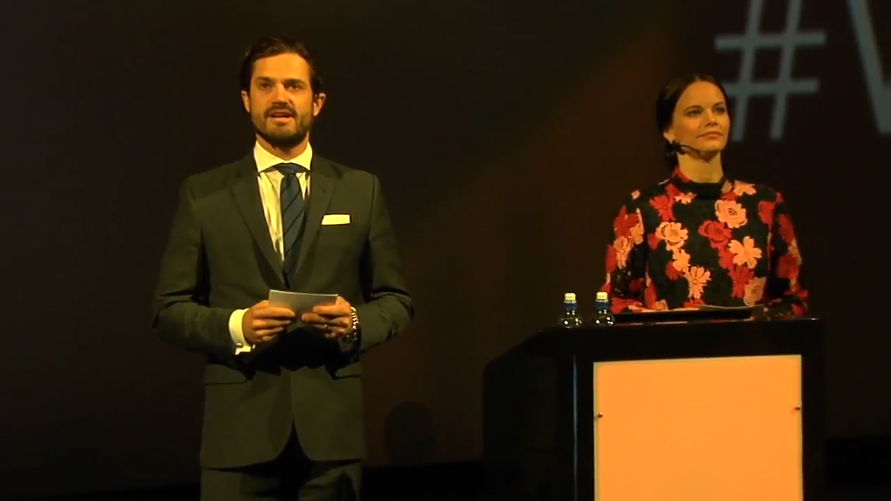 Prince Carl Philip and Princess Sofia of Sweden at an anti-bullying forum in 2017