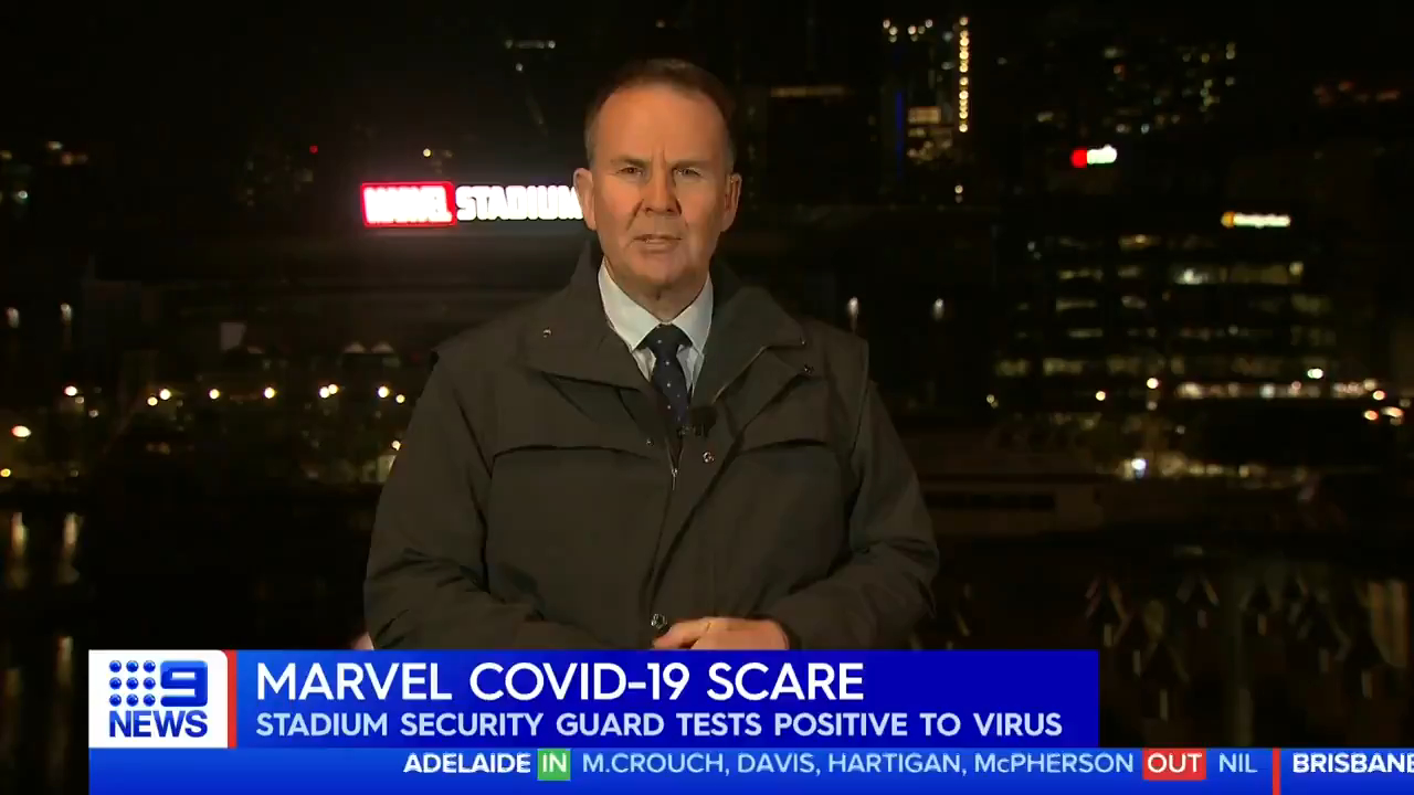 Marvel Stadium worker tests positive to COVID-19