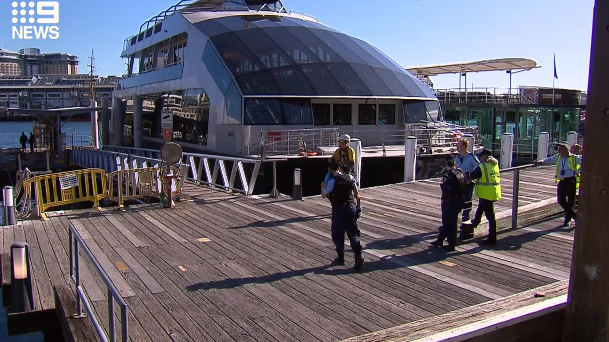 Man crushed in boat accident at King St Wharf