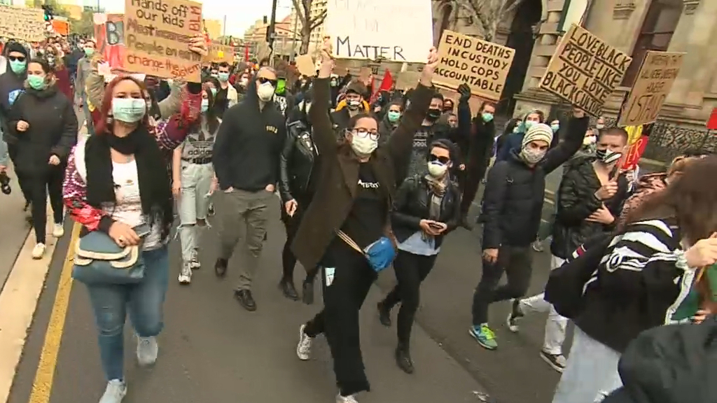 Thousands attend Adelaide's second BLM rally