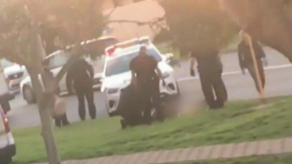 Two men arrested after violent police chase