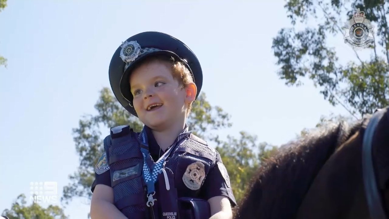 Young Brisbane boy made honourable junior constable
