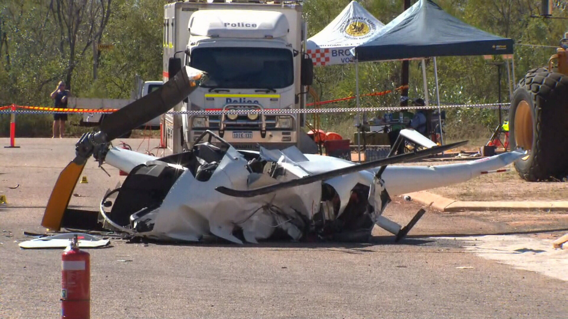 Pilot and young girl killed in Broome helicopter crash