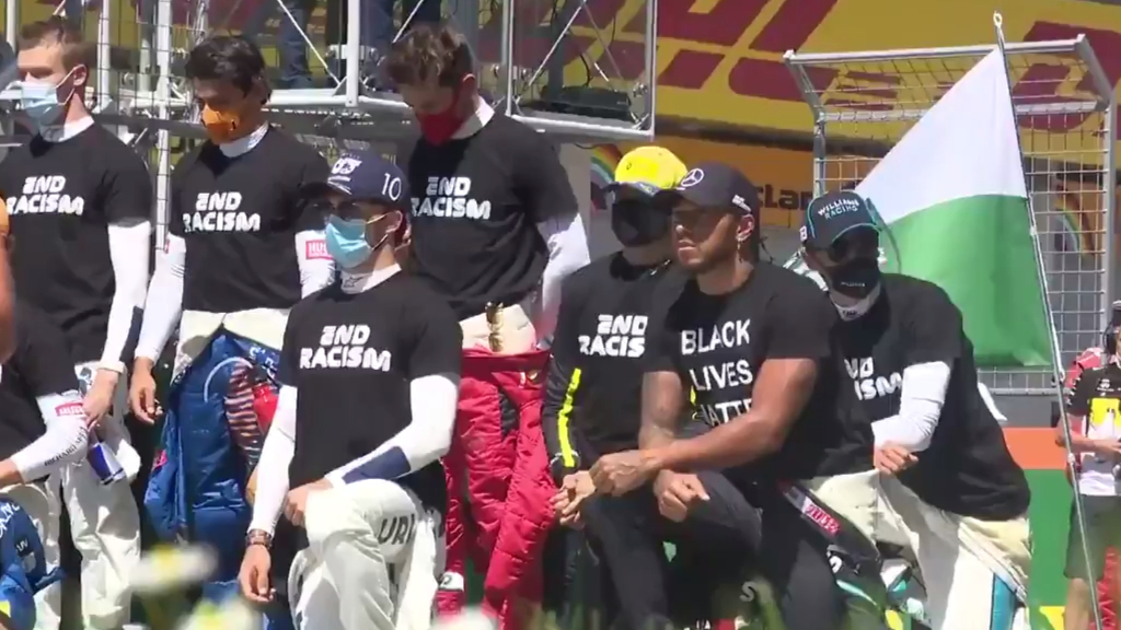 F1 drivers take a knee in stance against racism