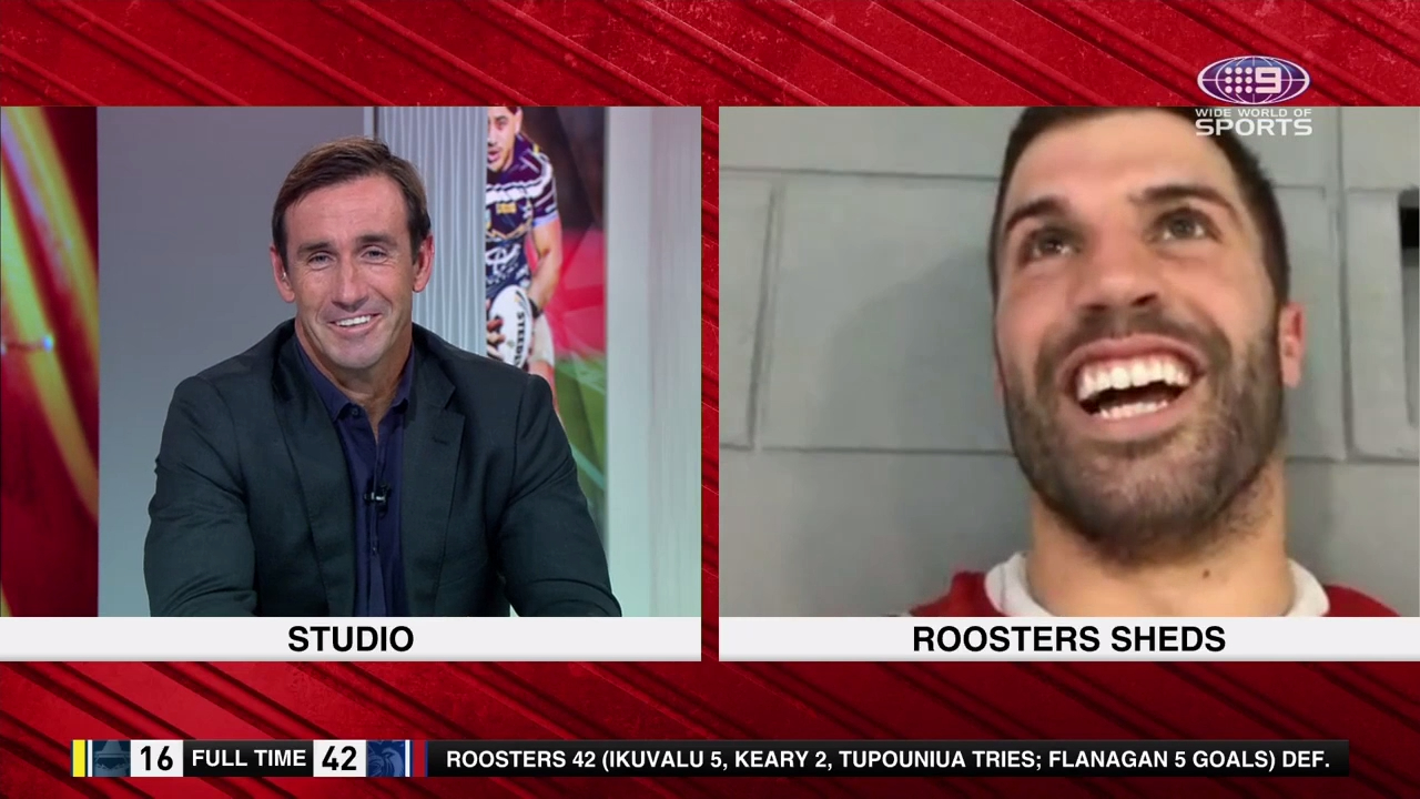 Joey filthy over Roosters' celebrations