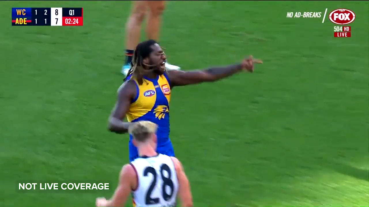 Naitanui gets payback on O'Brien