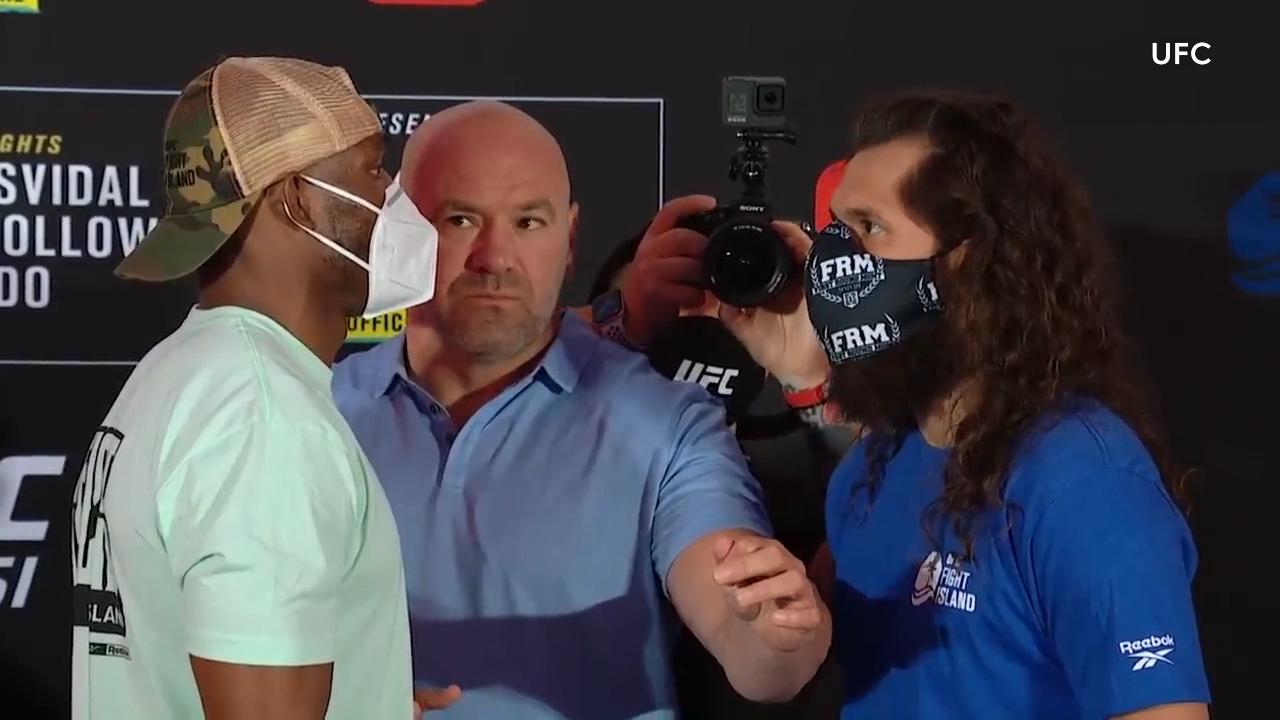 UFC 251 face-off