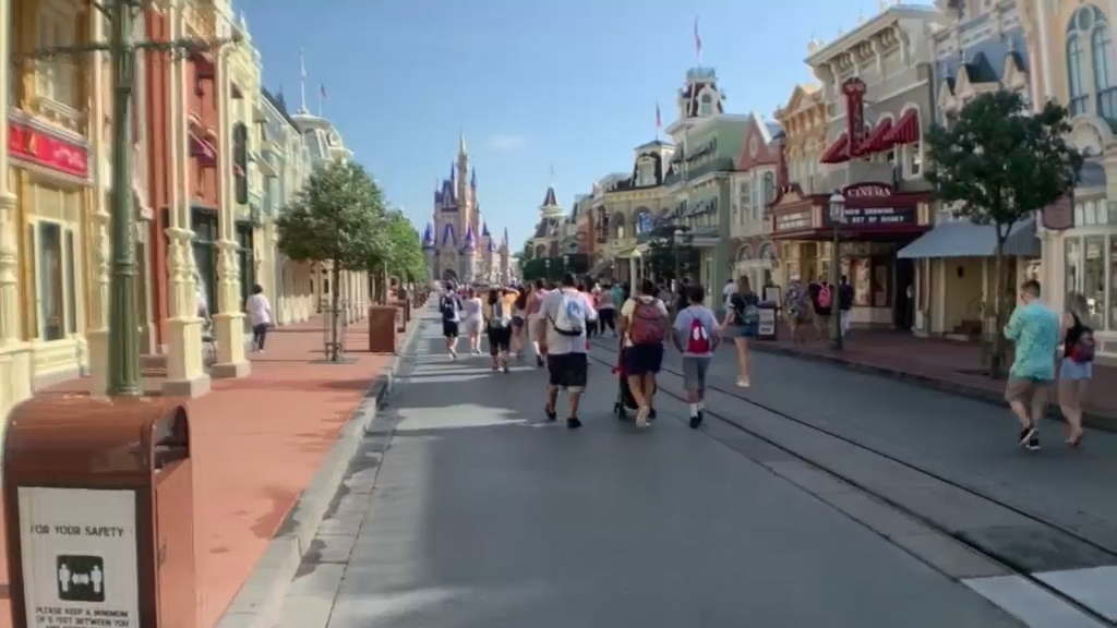 Coronavirus: Disney World reopens to the public