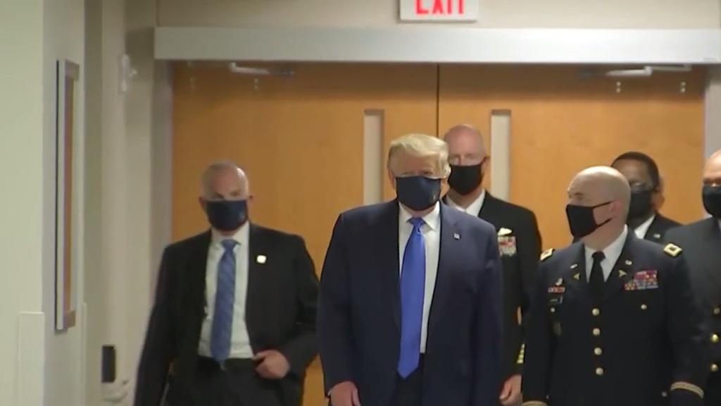 Coronavirus: Trump wears mask after months of denial