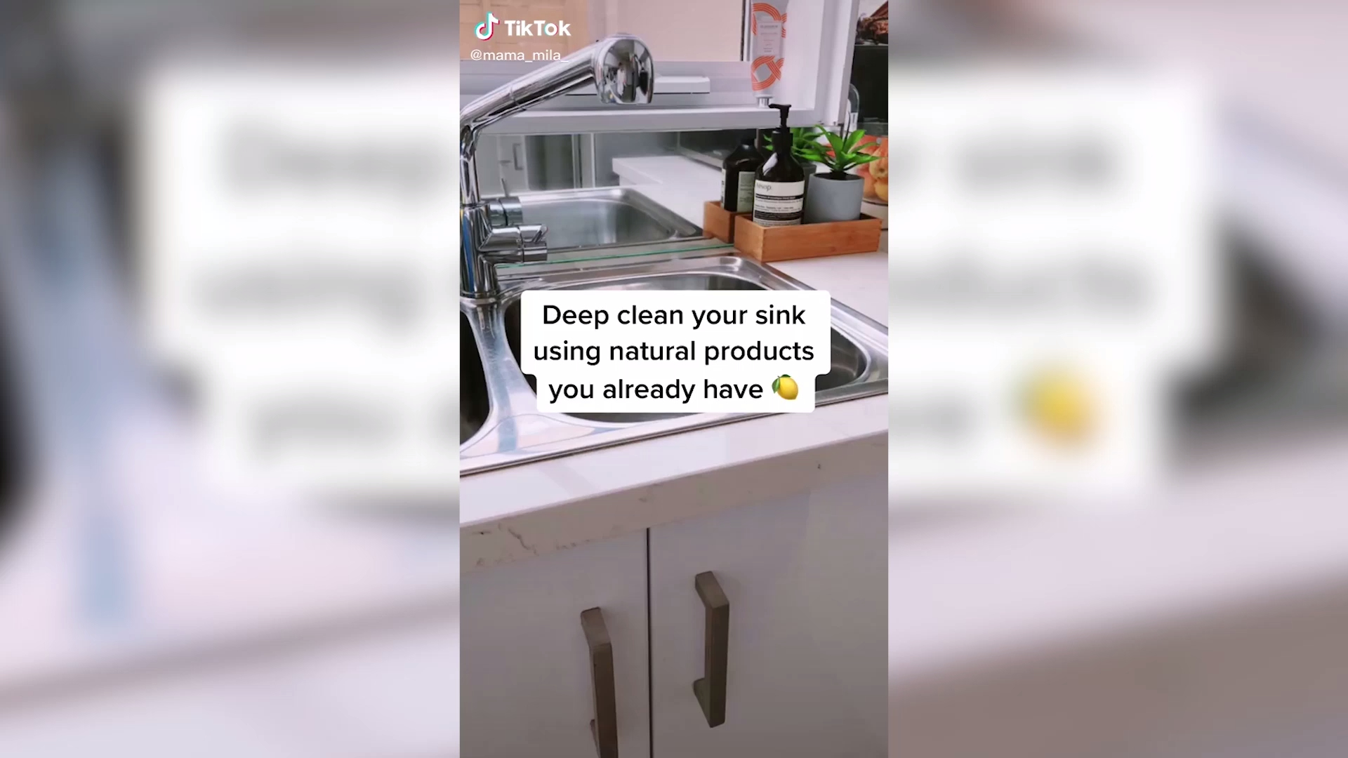 Sink cleaning hack with natural ingredients