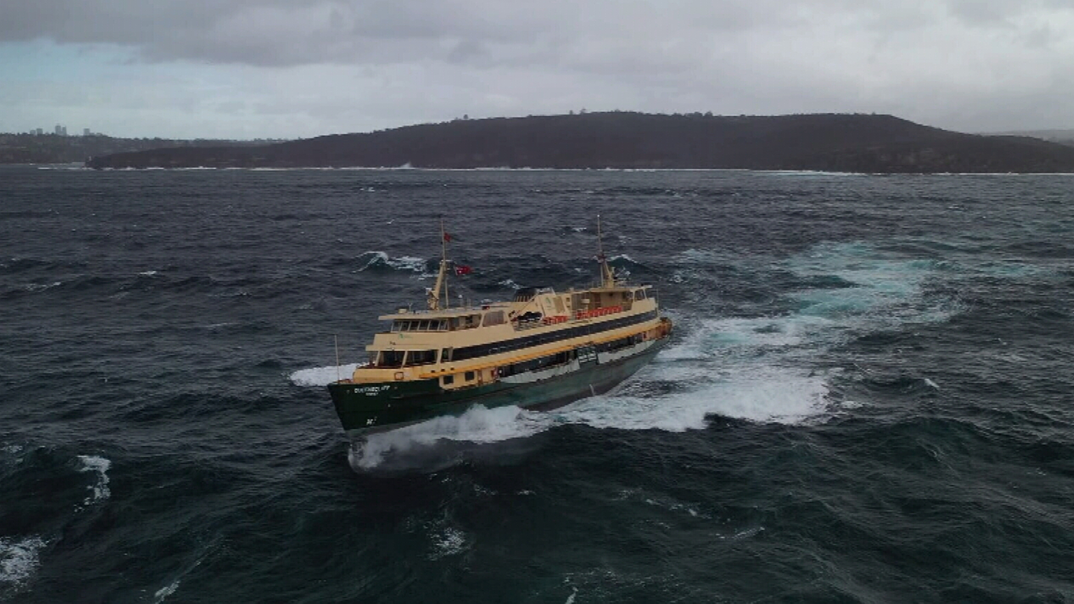Manly ferry battles swell in Sydney Harbour