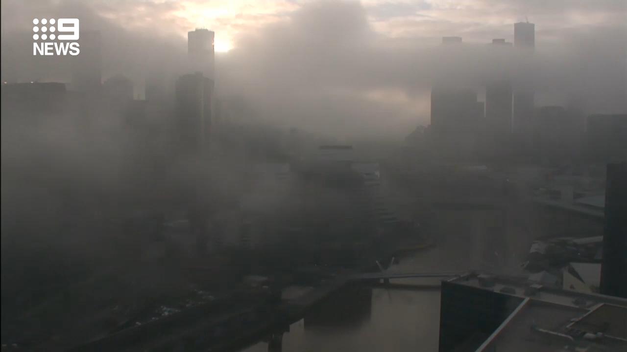 Melbourne blanketed in fog