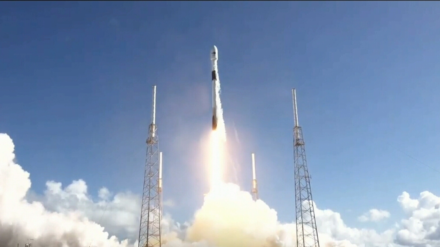 SpaceX rocket launches South Korean satellite