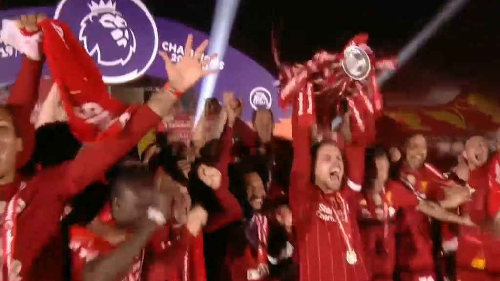 Liverpool lift the EPL trophy