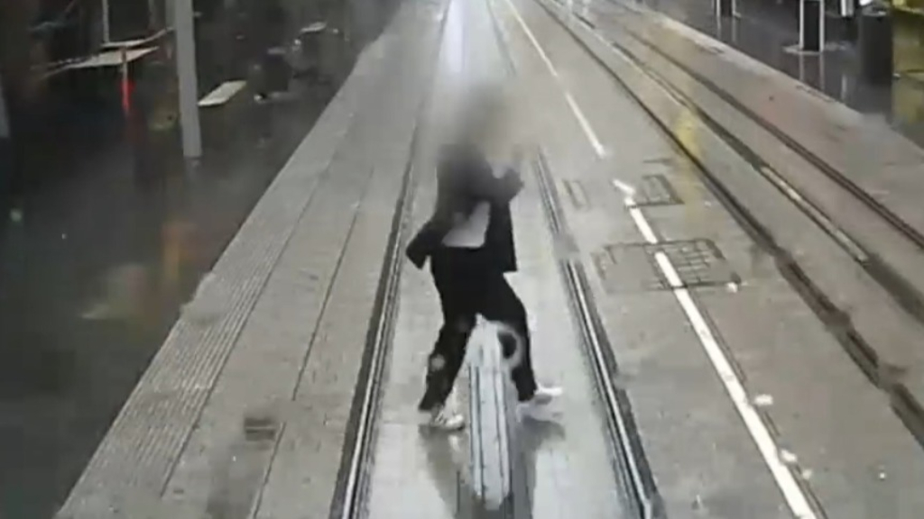 Footage shows shocking close calls with Sydney trams