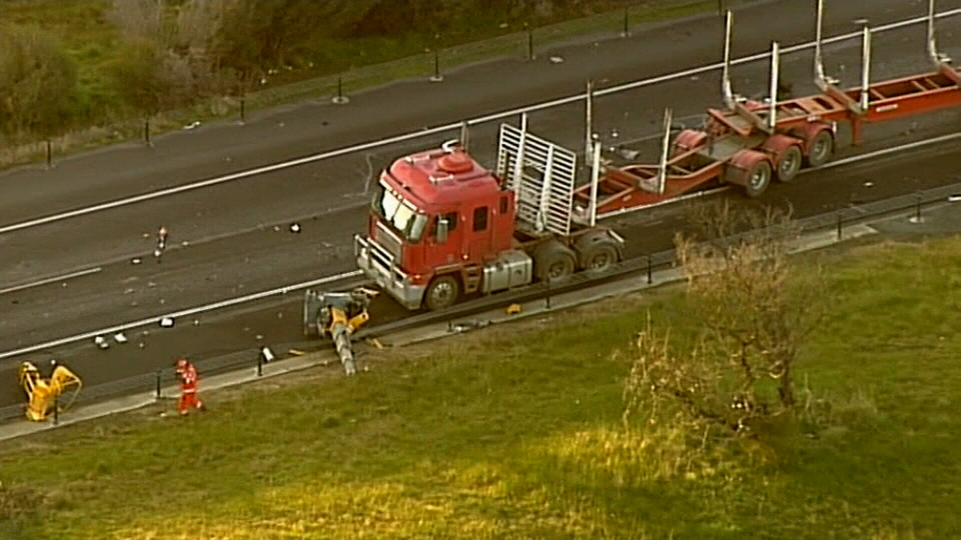 Truck crash north of Melbourne