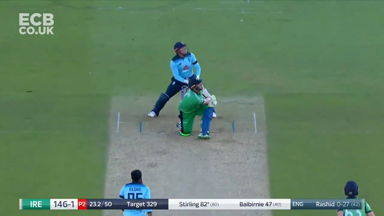 Stirling smokes Rashid for six