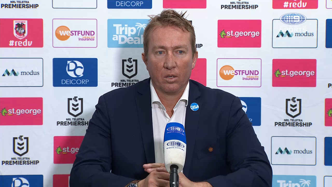 Dragons v Roosters: Round 13 Presser - Trent Robinson
