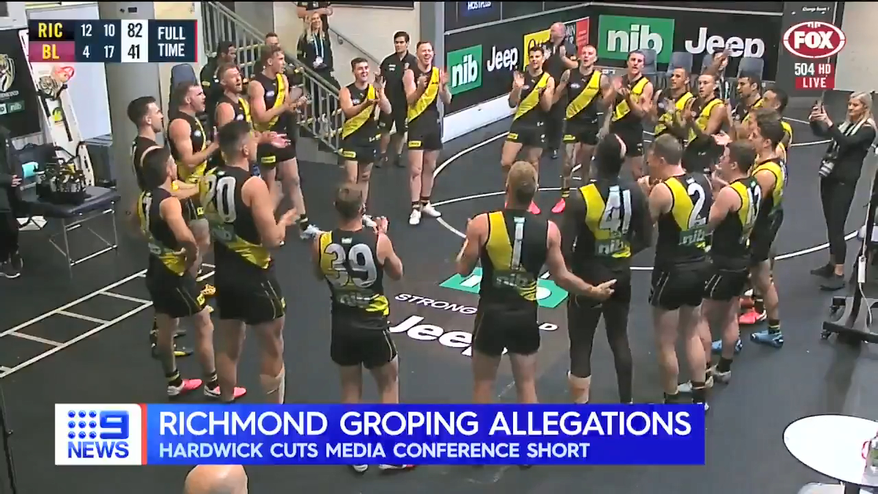 Hardwick questioned over groping allegations