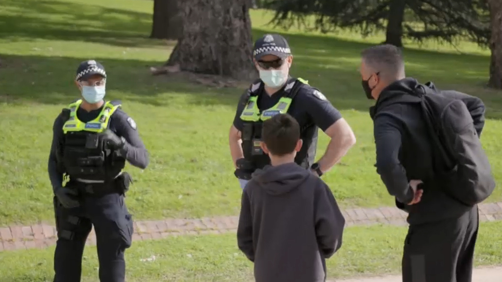 Coronavirus: Victoria police crack down