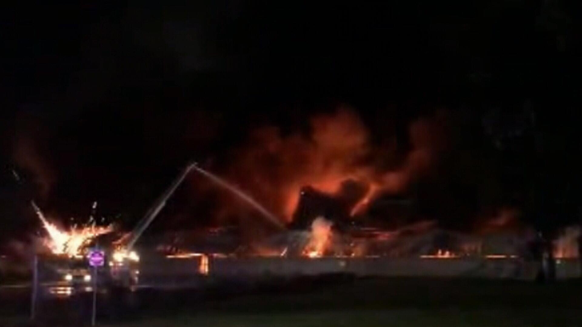 Melbourne factory fire
