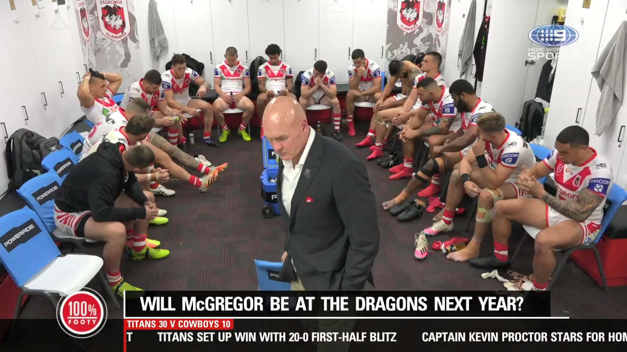 Will McGregor be at the Dragons in 2021?