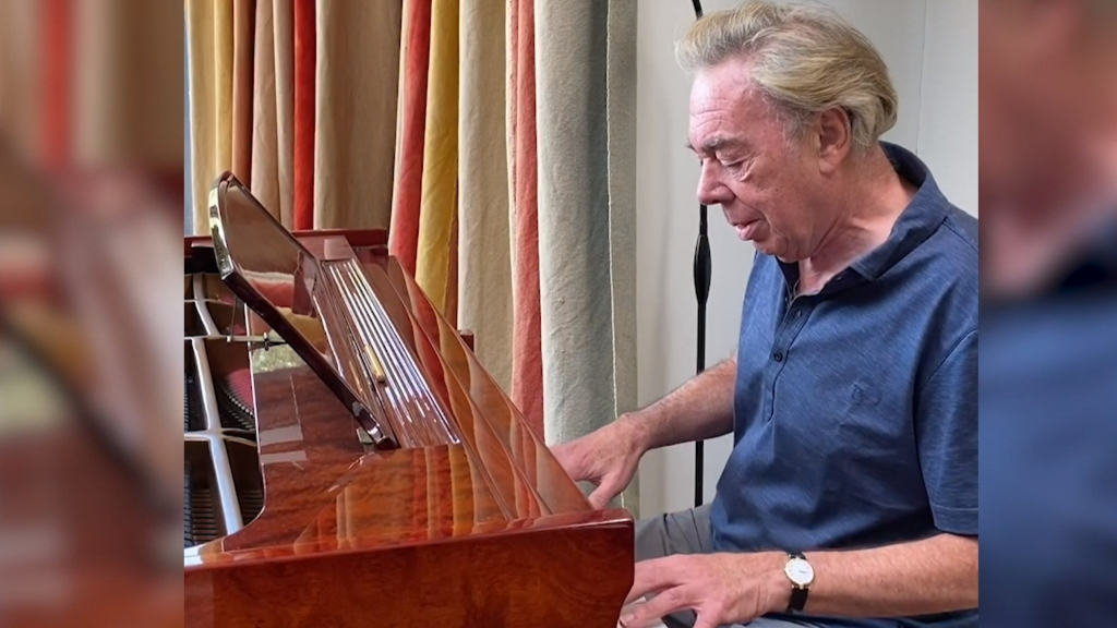 Andrew Lloyd Webber plays piano in isolation