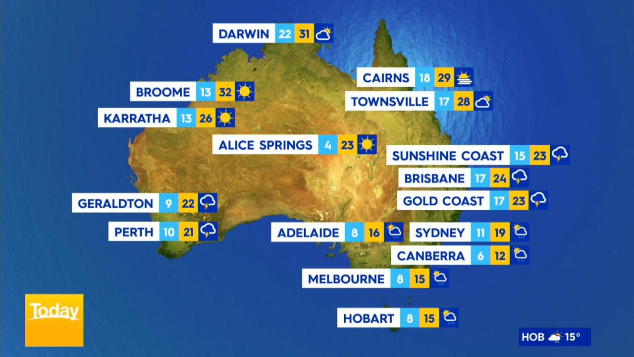 Rain, thunderstorms to hammer inland Queensland, NSW, Victoria
