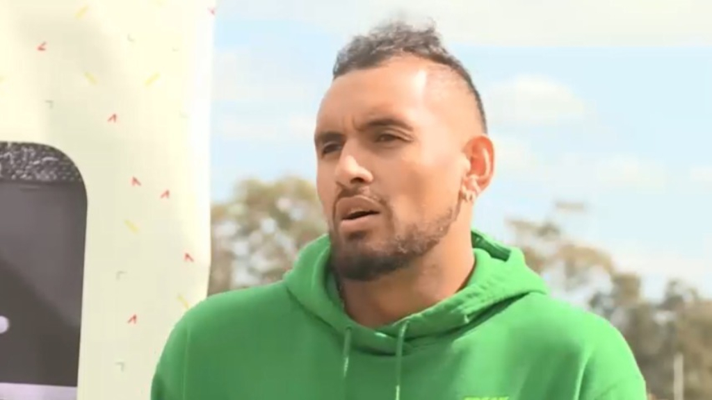 Kyrgios talks about tennis return plans