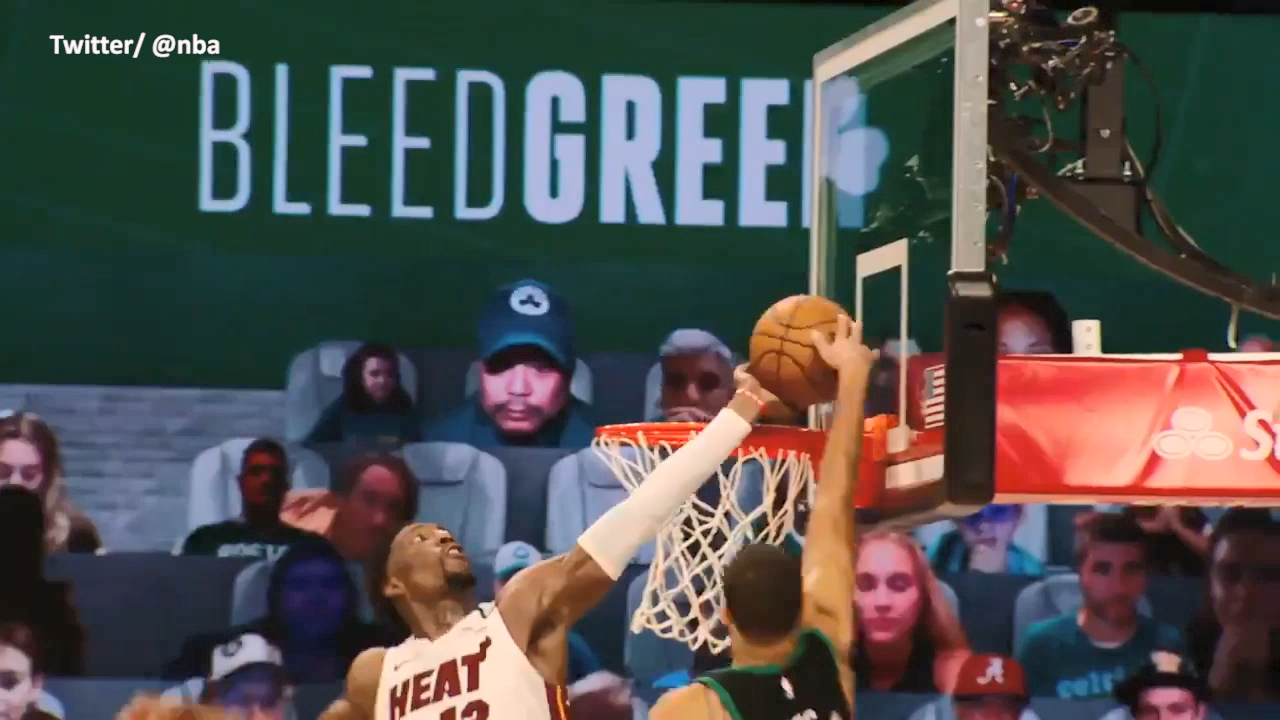 Adebayo blocks Tatum in OT madness