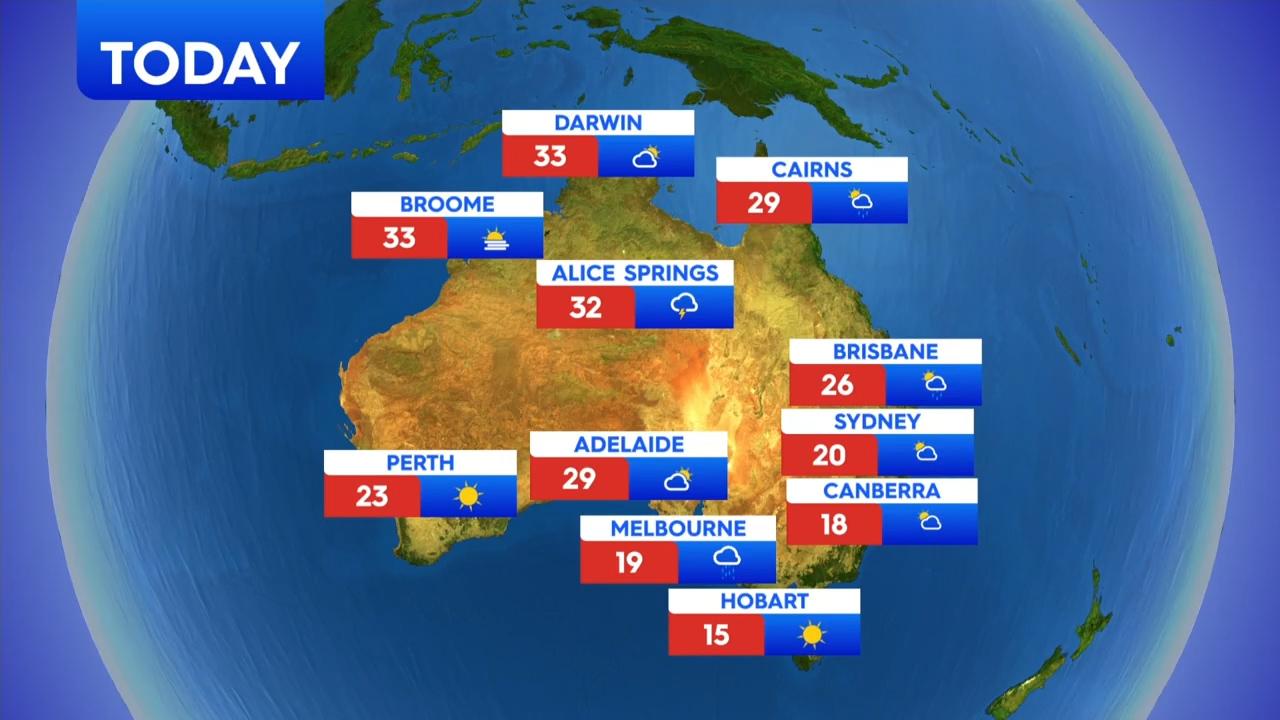National weather forecast for Friday, September 18