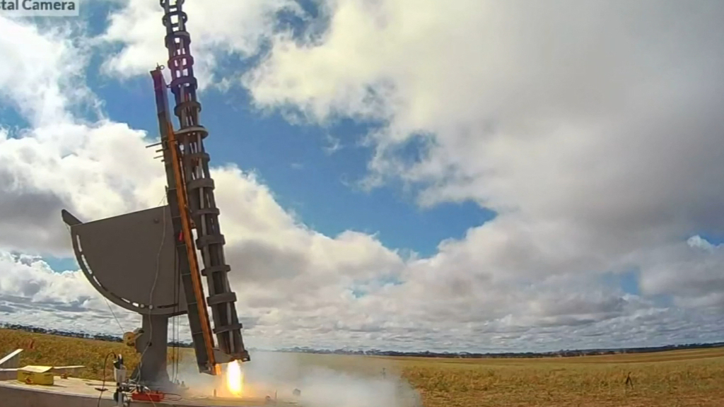 Defence Force launch first commercial rocket from Australia