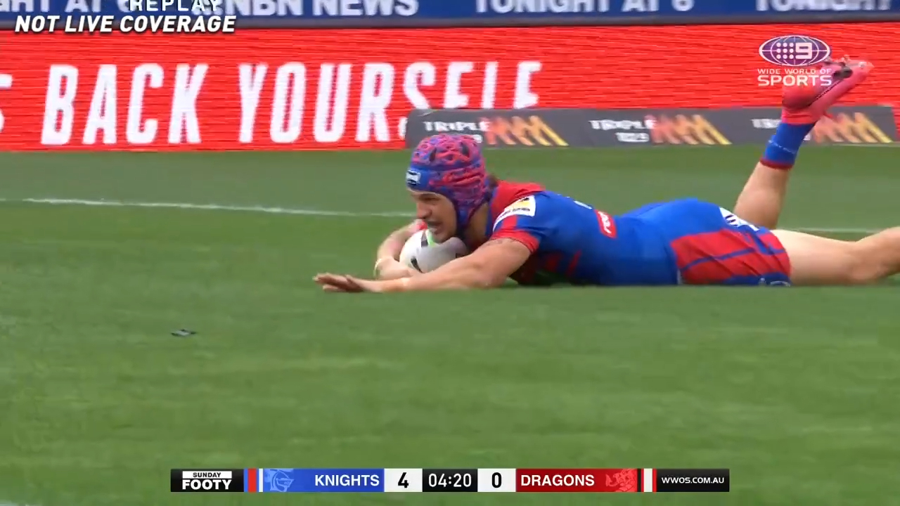 Ponga scores in Knights return