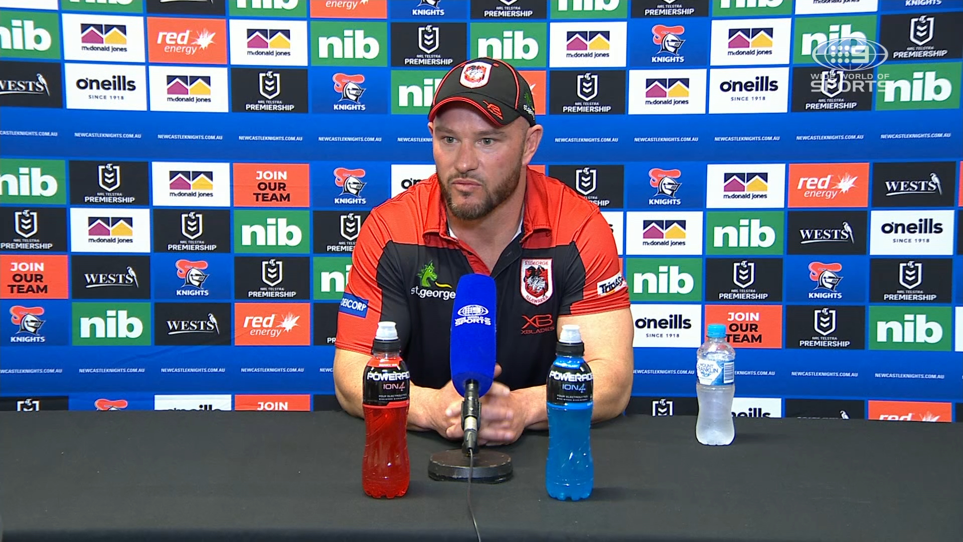 NRL Presser: Knights v Dragons - Round 19 - Dean Young