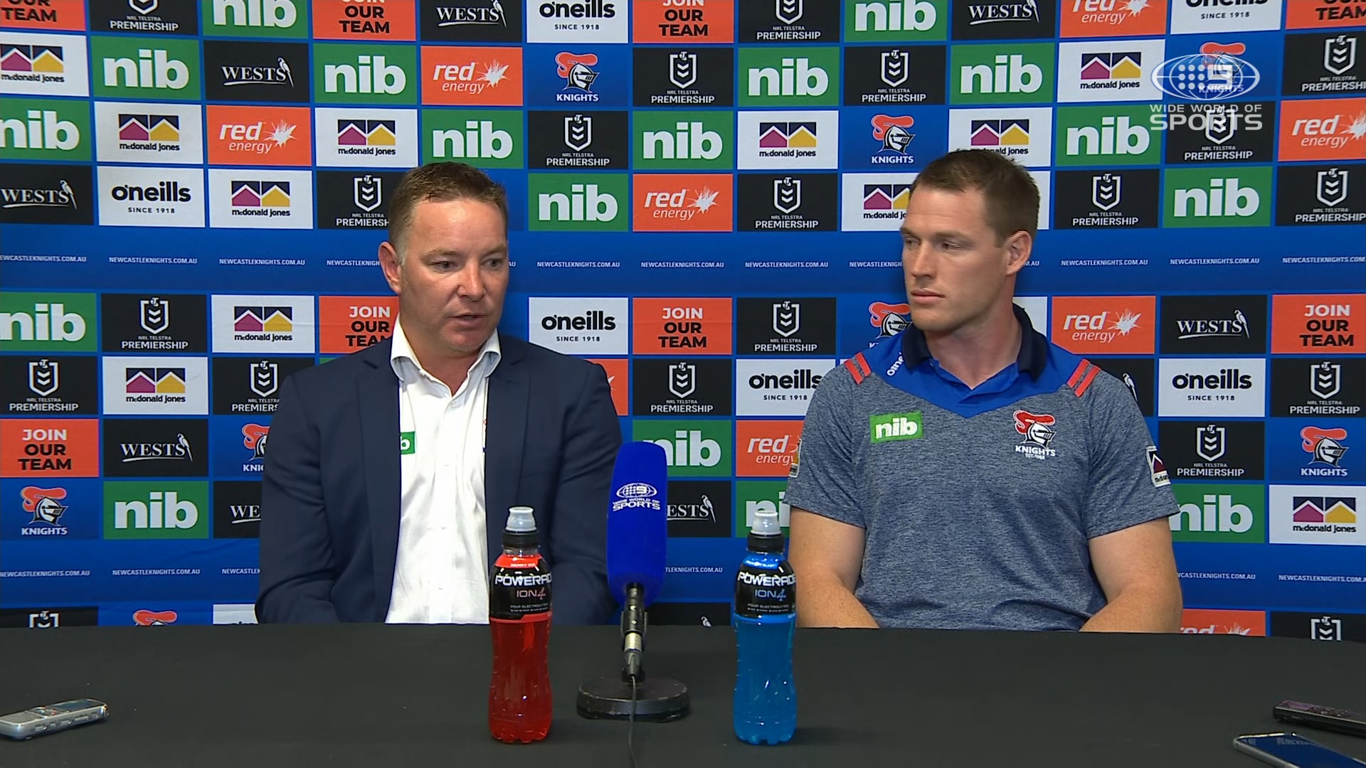 NRL Presser: Knights v Dragons - Round 19 - Adam O'Brien