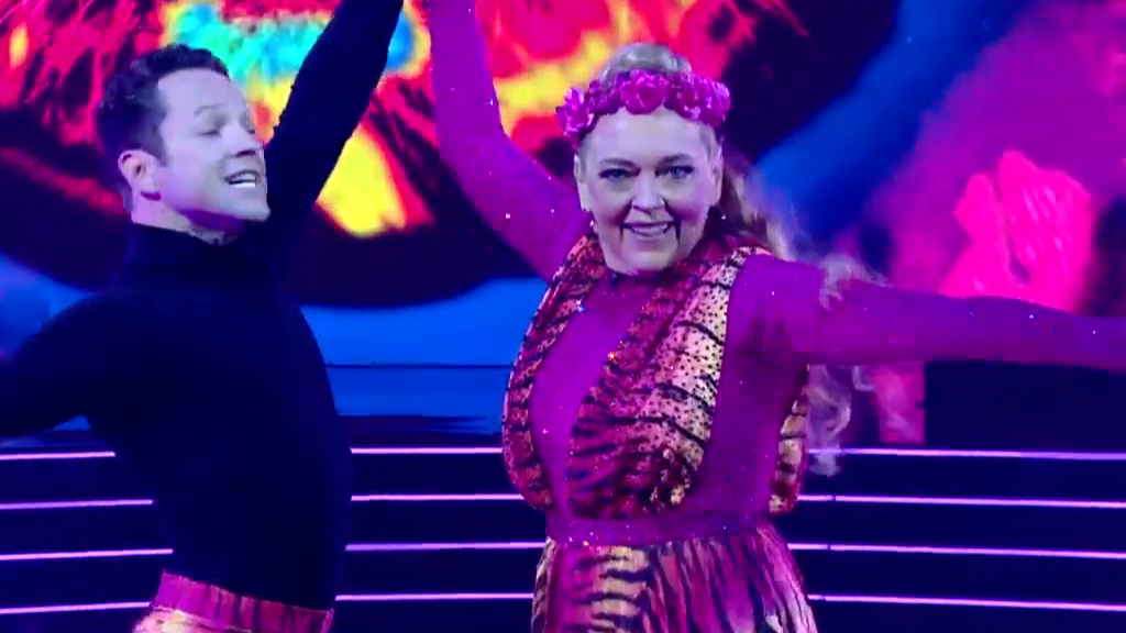 Carole Baskin performs on US Dancing With The Stars