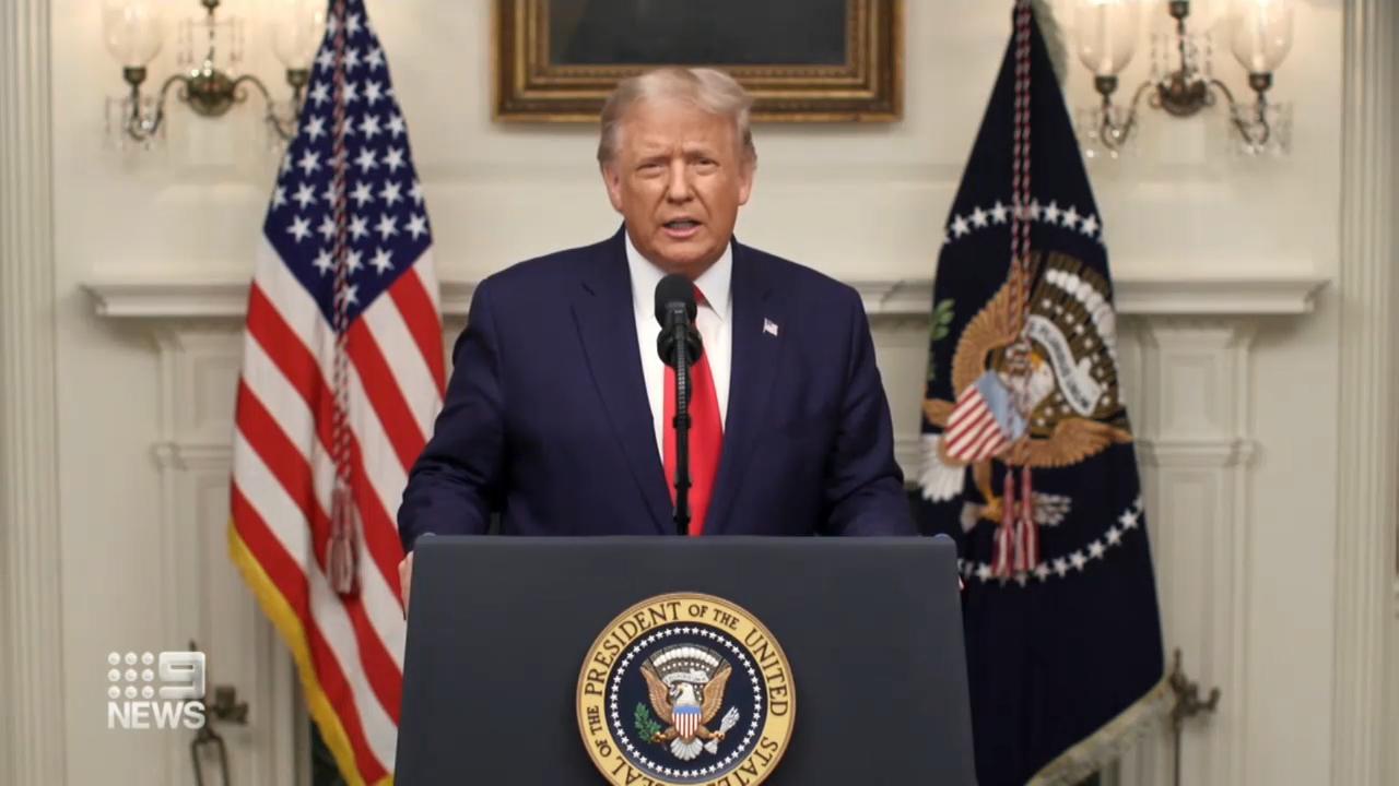 "Trump slams China for ""unleashing the plague"""