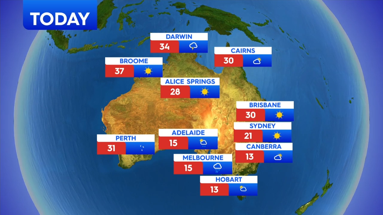 National weather forecast for Thursday, September 24