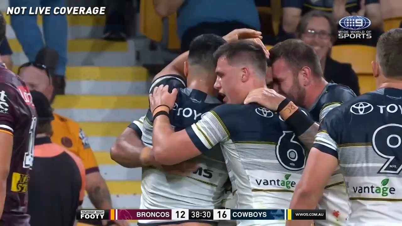 O'Neill try gives Cowboys lead