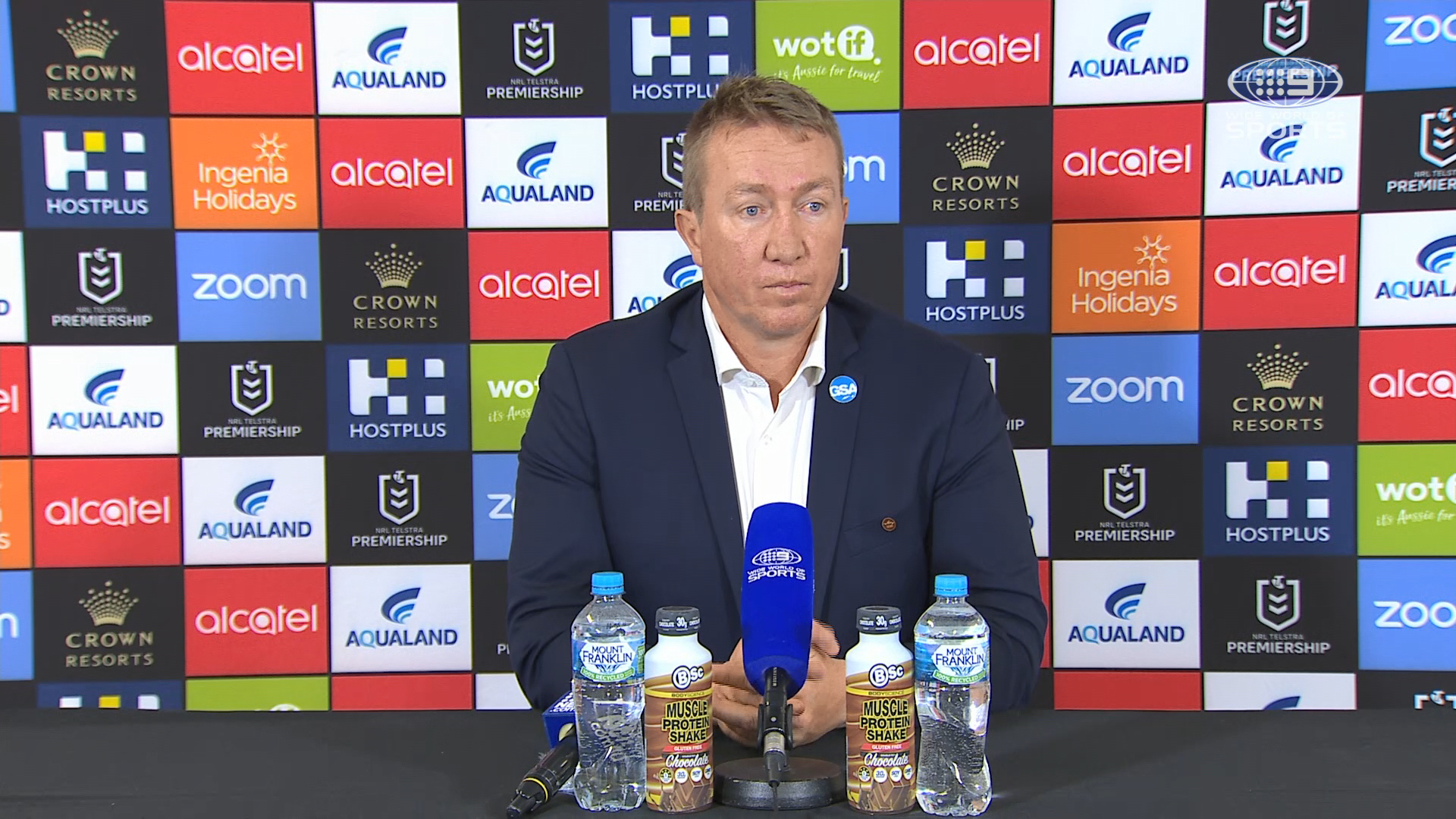Rabbitohs v Roosters Round 20 Presser - Trent Robinson