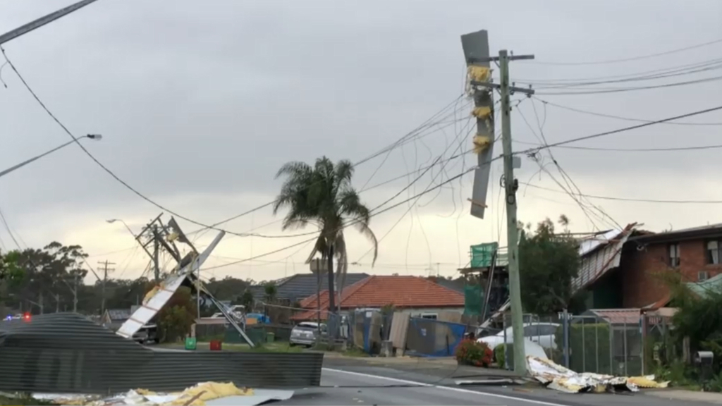 Strong winds cause damage across Sydney